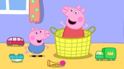 "Peppa & George play ""Hide and Seek"""