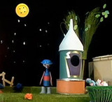 "Mr Spoon & The Spaceship (""Button Moon"" / Ian Allen & John Thirtle / Playboard Puppets)"