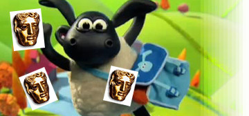"This year's Children's BAFTA winners! (image mashes up ""Timmy Time"" from Aadrman Animations/CBBC and the BAFTA award from The British Academy of Film and Television Arts)"