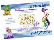 """The King's Beard"" - BAFTA invitation"