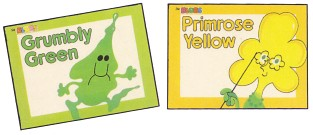 Grumbly Green and Primrose Yellow - Blobs books from DC Thomson