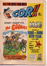 """Cor!!"" dated 6th January 1973, with ""The Goodies"" first appearance"