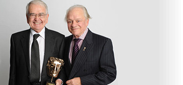 Brian Cosgrove and David Jason at the 2012 Children's BAFTA  awards (British Academy of Film & Television Arts)
