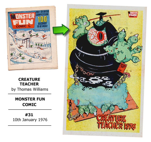 """Creature Teacher"" poster by Thomas Williams"