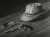 "Tex Tucker's hat and guns from ""Four Feather Falls"" (AP Films / Granada)"