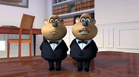 "Gilbert & Sullivan in ""Flushed Away"" (AArdman/DreamWorks)"
