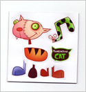 """Frankenstein's Cat"" fridge magnet set"