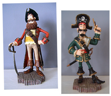 The Pirates! by Robert Harrop Designs - The pirate Captain & Black Bellamy!
