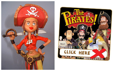 Cutlass Liz and The Pirates! - available now from Robert Harrop Designs!