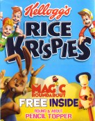 Magic Roundabout pencil toppers in boxes of  Rice Krispies
