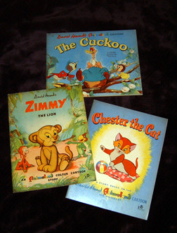 """The Cuckoo"", ""Zimmy the Lion"" and ""Chester the Cat"" - three pitcurbooks published by Juvenile Productions."