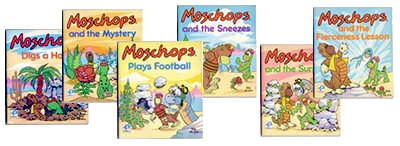 Moschops picturebooks by Purnell