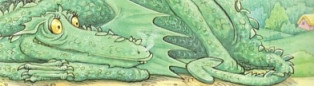 Grolliffe The Ice Dragon from Noggin And The Ice Dragon - detail from a 1984 Royal Mail Stampbook 1994
