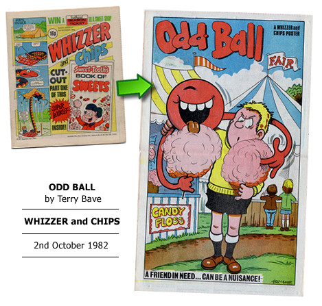 """Odd Ball"" poster by Terry Bave"