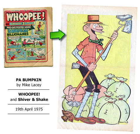 """Pa Bumpkin"" poster by Mike Lacey"