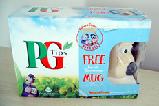 PG Tips with free Gromit Thermo Nose Mug