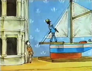 "Pinny's china house and Victor's miniature boat, in the SmallFilms series ""Pinny's House"""