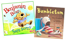 """Benjamin Bear Says Sorry"" illustrated  by Steve Smallman / ""Bumbletum"" written by Steve Smallman"