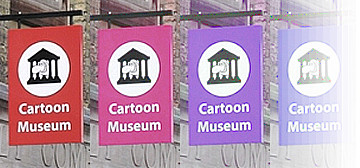 The Cartoon Museum in Great Russell Street, London, W1.