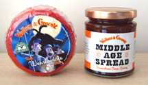 Wensleydale cheese truckle + a jar of Middle Age Spread