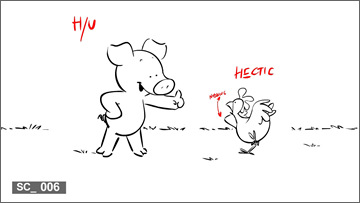 """Wibbly Pig"" storyboard"